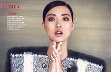 Checkered Couture Captures - The Classic Check Vogue Taiwan Fashion Story is Classically Elegant