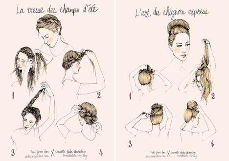 Elegantly Illustrated Hair Tutorials