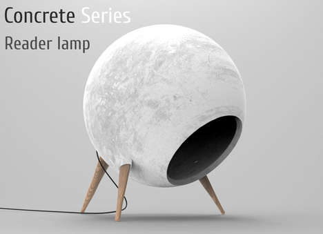 The Concrete Reader Desk Lamp Entices You to Touch It