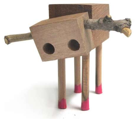 Antlered Animal Assemblages - Artist David Budzik Creates One of a Kind Animal Wood Toys
