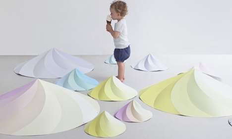 Swirled Cream Lighting - The Chantilly Cone-Shaped Lamp Shade Looks Like a Soft Serve Sweet