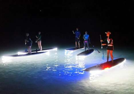 Illuminating Paddle Boards