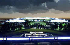 Futuristic Travel Airports - Spaceports Bridge the Gap Between Air Travel and Space Training