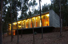 Concrete Forest Homes - The Concrete House Created by 'Gubbins Arquitectos' is a Sight to See