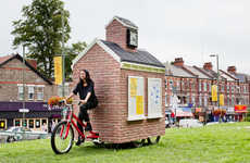 Pedal-Powered Meeting Spaces - The Cricklewood Mobile Town Square Promotes Civic Interaction