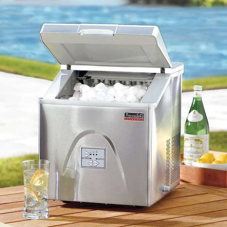 Sleek Compact Ice Makers - This Portable Ice Maker Will Help to Keep Your Drinks Cold