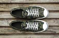 Classic Army-Inspired Kicks - The Jack Purcell Camo Sneakers are a Stunning Military-Esque Shoe