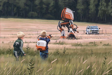 Realistic Dystopian Artwork - Simon Stålenhag Has Created a Anti-Utopian Paradise