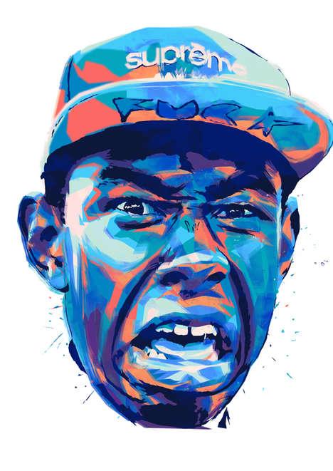 Expressive Hip-Hop Illustrations