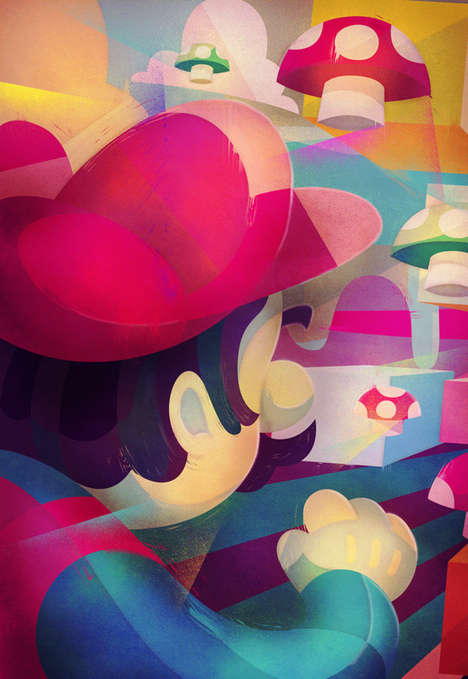 Vibrant Gamer Illustrations - Carlos Lerma Creates Stunning Re-Imagined Nintendo Characters