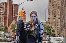 Dramatic Urban-Chic Fashion