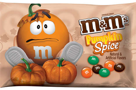Pumpkin-Flavored Chocolate Candies - The Pumpkin Spice M&Ms are an Exciting Fall Treat