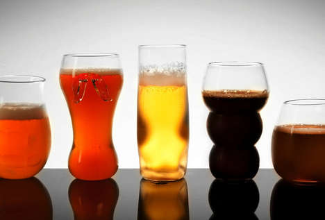 Beer Connoisseur Glasses - Release Your Inner Connoisseur with These Pretentious Beer Glasses