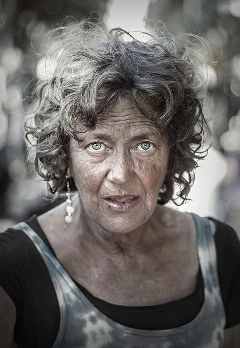 Candid Homeless Portraits - Michael Pharaoh Captures Homeless People in a Stunningly Real Way
