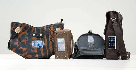 Phone-Integrated Designer Handbags - Sean Miles' Mobile Phone Bags Carry Phones Unusually