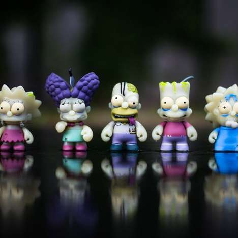 Zombified Iconic Cartoon Toys - The Kidrobot x The Simpsons Zombie Toys Transform the Beloved Family