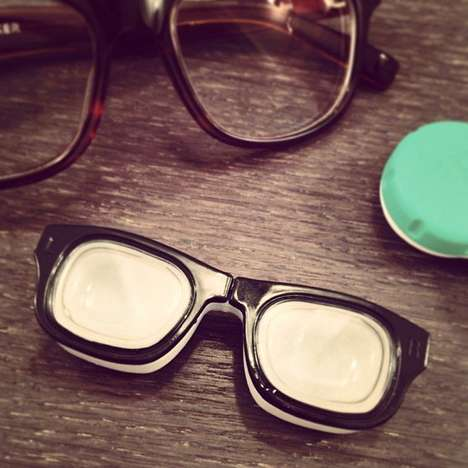 Vintage Specs Contact Cases - This Contact Lens Case Looks Just Like a Pair of Retro Glasses