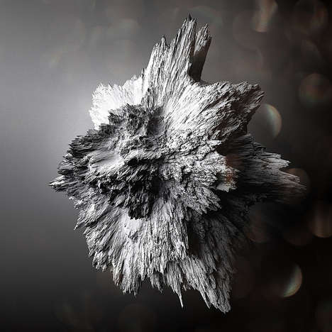 Crystallized Asteroid Artwork - Chaotic Atmospheres' Digitally Made Asteroids are Breathtaking