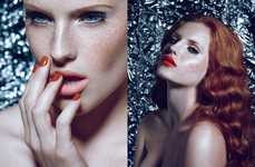Alluring Redhead Editorials - The Shimmer Glassbook Beauty Story Embodies a Feminine Air