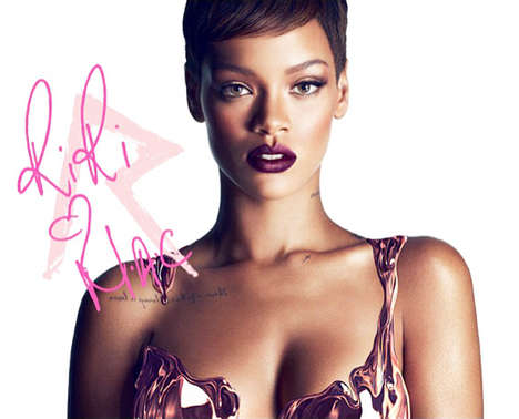 Tamed Celebrity Makeup Campaigns - Rhianna's New RiRi Hearts MAC Line Poster is Stunning