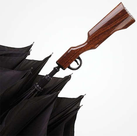 Frighten Innocent People with the Rifle Umbrella