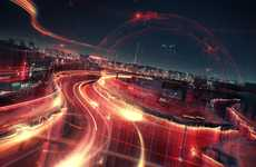 Speedy Streetlight Animations - 'TVC Moscow Week' Makes Race Track Designs Out of Lights
