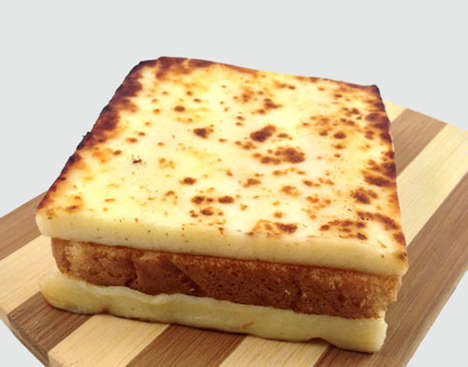 Cheesy Inside-Out Sandwiches - These Grilled Cheese Sandwiches are Delightfully Different