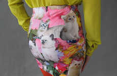Cat-Printed Mini Skirts - 'PrettySnake' Gets Kick Started with its Kitty-Printed Piece