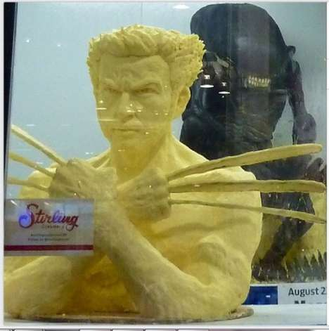 Comic Butter-Based Sculptures
