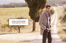 Suave Countryside Campaigns - The Marks and Spencer Collezione Advertorial is Inspired by Italy