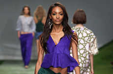 Brilliant Jewel-Toned Fashions - The Topshop Unique Spring 14 Line is an Eclectic Collection