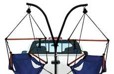 Suspended Trailer Truck Chairs - The Hammock Chairs From Amazon are Perfect for Camping & Road Trips