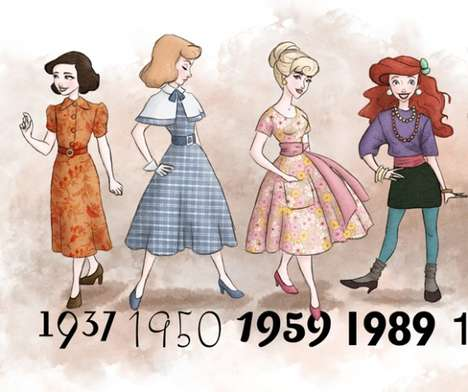 Time Period Princess Fashion - The Realistic Disney Princess Outfits Match the Women to their Time