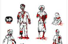 Gory Zombie Car Stickers - Scare People on the Road with these Zombie Car Decals