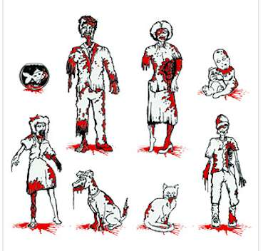 Gory Zombie Car Stickers