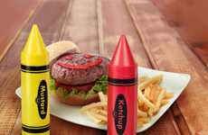 Crayon-Shaped Condiments - Play with Your Food With These Artsy Condiment Bottles