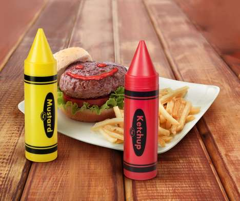 Crayon-Shaped Condiments