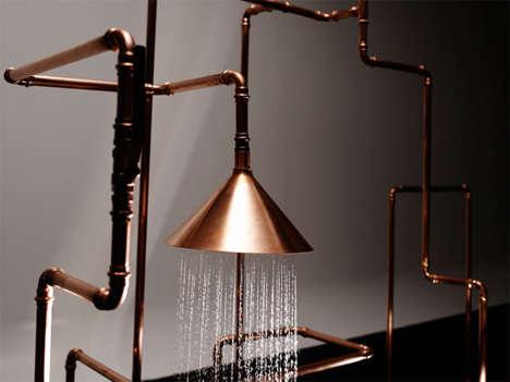 Copper Pipe Sculptures