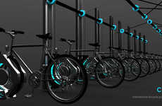 Hovering Bike Racks