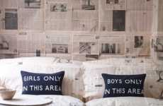 Gender-Segregating Pillows - These Barbara Coupe Cushions Keep Boys and Girls On Opposite Sides
