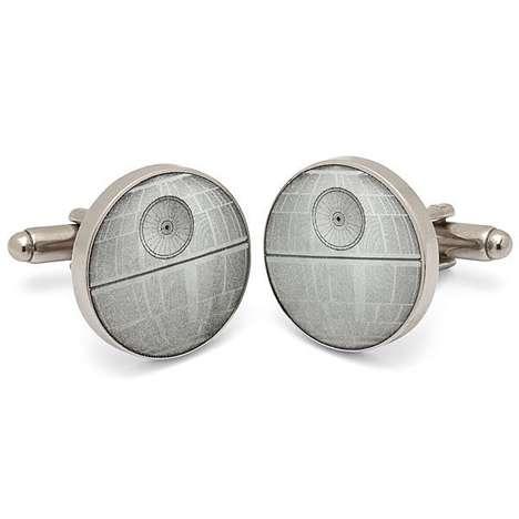 Galactic Silver Cufflinks