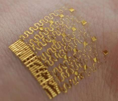 Temperature-Tracking Tattoos - Bionic Skin Can Detect the Human Body's Internal Temperature