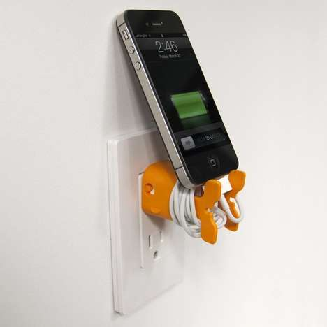 Adorable Aquatic Cable Wrappers - The Goldie CableKeep Stands the iPhone Up While it Charges