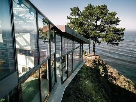 Extravagant Cliff Dwellings - The Fall House Becomes One with the Landscape