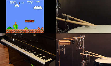 Theses Piano and Drum Sets Mirror Video Game Themes All By Themselves