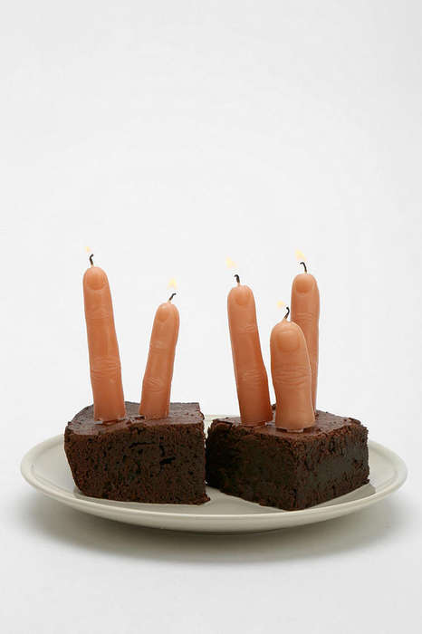 Give Your Guests a Little Scare with These Finger Candles