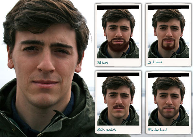 Virtual Facial Hair Apps
