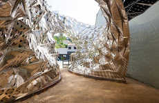 Sun-Blistering Buildings - The Bloom Pavilion Reacts to Solar Exposure Like a Living Thing
