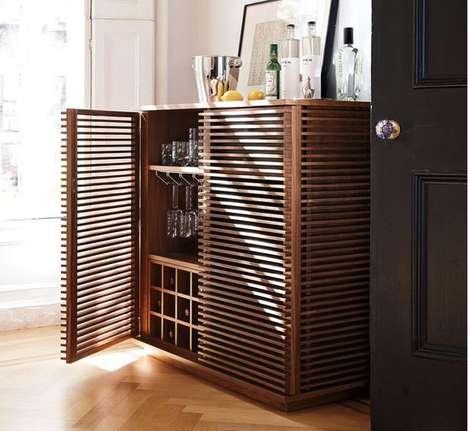 Luxurious Walnut Wine Bars