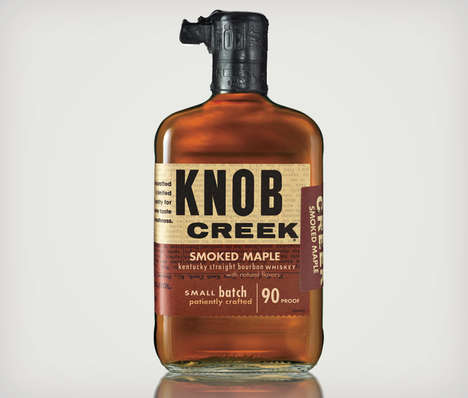 Breakfast Maple Whiskies - The Knob Creek 'Smoked Maple' Whiskey is an Evening Delight